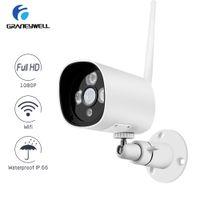 hd водонепроницаемая система безопасности оптовых-Лучший Wi-Fi Камера 1080 P HD ONVIF Камеры Безопасности P2P CCTV Пуля Уличная Камера Водонепроницаемый IP66 системы видеонаблюдения домашней безопасности системы
