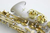 saxofon blanco al por mayor-Yanagisawa A-992 Alta Calidad Alto Eb Tune Saxofón Instrumento Musical Hermoso Cuerpo Blanco Laca de Oro Clave Nuevo Latón Sax