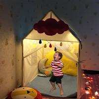 пляжные огни оптовых-Портативный Детский шатер игрушка мяч бассейн играть дома дети небольшой светлый дом складной играть палатка Baby Beach DE0023