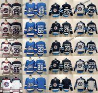 трикотажные изделия хоккейного наследия оптовых-2019 Winnipeg Jets 29 Patrik Laine 55 Марк Шейфеле 26 Блейк Уилер 33 Дастин Byfuglien Наследие Старинные Белые Альтернативные Хоккейные Майки