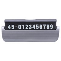 telefonnummer worte großhandel-1 stück Temporäre Kfz-halter Stand Parken Telefonnummer Bord Temporäre Parkplatz Kennzeichenhalter Panel Halterung Auto Styling