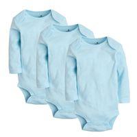 Wholesale newborn baby boy bodysuits for sale - Group buy 3pcs set Girls Bodysuits Cotton Newborn Long Sleeve Body Clothing Infant Jumpsuits Toddler Clothes Baby Boys Bodysuit Q190518