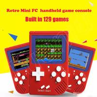 ingrosso zy-Mini console portatile da gioco portatile retro a 8 bit Lettore di gioco LCD a colori per console di gioco FC DHL Free A-ZY