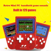 Wholesale free toys for kids online - Portable Retro Mini Handheld Game Console bit Color LCD Game Player For FC Game Console free DHL A ZY toys