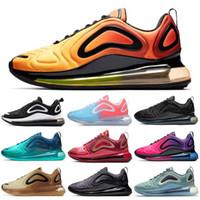 ingrosso calcio al neon-Nike Air Max 720 Shoes Scarpe da corsa per uomo Donna Total Eclipse Volt Neon Pink Rise Sea Forest GIMNASIO ROJO DESERT GOLD Scarpe da ginnastica uomo Sport Sneakers 36-45