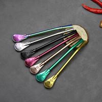 ingrosso cucchiai di paglia inossidabile-