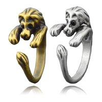 silberner löwenschmuck großhandel-New Fashion Vintage Silber Bronze Einstellbare Tiny Cute Lion Wrap Ring Boho Mittelfinger Tier Ringe Für Frauen Männer Kinder Schmuck Kinder Geschenk
