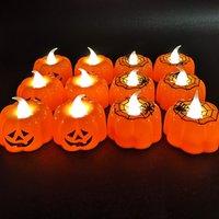 abóboras decorativas venda por atacado-Novo Abóbora de Halloween lâmpada bar lanterna KTV atmosfera decoração adereços LED festa eletrônica Luzes Decorativas pequenas luzes da noiteT2I5310