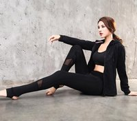 Wholesale thin yoga pants for sale - Group buy High waist hip exercise fitness yoga pants breathable and quick drying tight thin splicing mesh yarn stepper pants sportswear