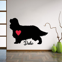 Wholesale names for pets for sale - Group buy Cavalier King Charles Spaniel Decal Personalize With Dog s Name Wall Stickers Pet Dogs Wall Decor For Living Room