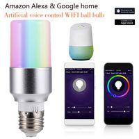 ligar controle de iluminação venda por atacado-E27 B22 E14 Inteligente Lâmpada Wi-fi LED Lâmpada APP Controle Remoto 7 W RGB Lâmpada Mágica Conectar com Amazon Alexa Google