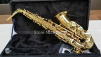 YANAGISAWA A-W01 Brass Alto Saxophone Brand Eb Tone Sax Gold Lacquer Surface with Mouthpiece Case Free Shipping