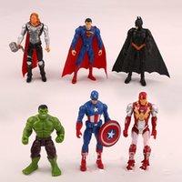 maravilha figuras de ação de super-heróis venda por atacado-10.5 cm Marvel Toys Os Vingadores Set Figura Superhero Batman Thor Hulk Capitão América Action Figure Collectible Modelo Boneca