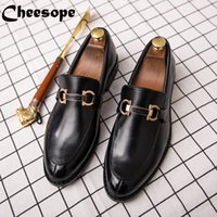 ingrosso scarpe in pelle italiana di moda-Men Dress Shoes High end Luxury Italian Style Moda Uomo Scarpe formali Brand Trend Plus Size Business in pelle