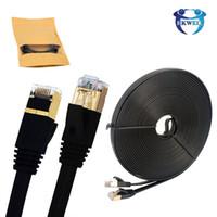 cable de red utp ethernet al por mayor-Cable Ethernet Cable de red RJ45 Cat7 UTP Cable de red UTP RJ 45 Cat 7 para Cat6 Cable de conexión compatible para módem Cables de enrutador Ethernet