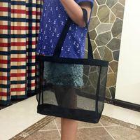 kozmetik çantası deseni toptan satış-Klasik beyaz logo alışveriş örgü Çanta lüks desen Seyahat Çantası Kadın Yıkama Çanta Kozmetik Makyaj Depolama örgü Kılıf MMA1810