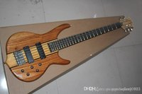 Wholesale smith electric guitars resale online - High Quality Custom string smith Burlywood Electric bass guitar in stock