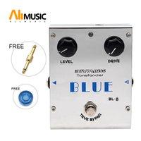 pedales biyang al por mayor-Biyang ToneFancier Series Pedal de efectos de bajo de guitarra Biyang BL-8 Blues Overdrive