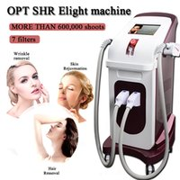 máquinas de tiro al por mayor-máquina SHR SHR E-Light IPL SHR OPT máquina de belleza láser rejuvenecimiento de la piel 7 filtros 600.000 brotes
