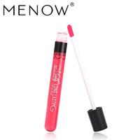 menow lip glosses großhandel-Menow Marke 38 Farbe Lipgloss Matte Langlebige Feuchtigkeitscreme Sexy Lipgloss Wasserdichte Schönheit Flüssiger Lippenstift Kosmetik