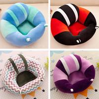 asiento del sofá del bebé al por mayor-Sofá de bebé recién nacido relleno de silla de asiento de bebé suave de algodón PP 45 * 45 cm 12 tipo asiento de soporte para bebé