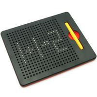 öğrenen tablet tablet toptan satış-Sıcak Oyuncaklar Çocuklar Için Boya Topu Tablet Manyetik Boncuk Mıknatıs Ped Kurulu Çizim Kalem Öğrenme Dizüstü Q190530