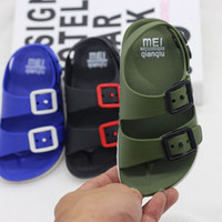 Wholesale children plastic slide for sale - Group buy 2019 Summer Boys Leather Sandals for Baby Flat Children Beach Shoes Kids Sports Soft Non slip Casual Toddler Sandals years
