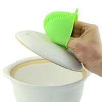 mikrowellen-finger-slips großhandel-Silikon Isolierte Handschuhe Silikon Finger Anti-heiße Küchenwerkzeuge Mikrowelle Isolierung Rutschfeste Waren für die Küchenhelfer
