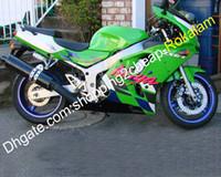 kawasaki ninja zx6r kaplama kitleri toptan satış-Kawasaki Ninja ZX6R 94 95 96 97 ZX6R ZX 6R 1994 1995 1996 1997 Spor Motosiklet ABS Fairing Satış Sonrası Seti İçin Vücut Seti