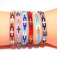 Wholesale rice bracelets resale online - New Handcraft Bead Bracelet Color Japanese Rice Beads Braided Bracelet Handmade Boho Style Bracelet Jewelry Xmas Gifts For Women M577Y