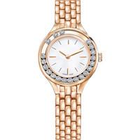 relojes de belleza al por mayor-2019 A pcs / lot Moda mujer relojes de lujo belleza dama reloj Acero inoxidable Rosa de oro Pulsera Reloj de pulsera superior Marca femenina Reloj popular