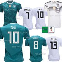 novos copos venda por atacado-Thai Alemanha 13 MULLER Casa / Fora Futebol Jersey 8 KROOS Camisa De Futebol 5 HUMMELS 17 BOATEN new maillot de foot 2018 Copa Do Mundo