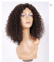Wholesale black bob haircut wig resale online - 10a Lace Front Wigs Brazilian Virgin Human Hair Bob Haircut Loose Curly Density Natural Hairline Preplucked With Baby Hair