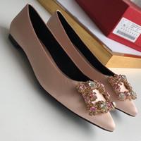 mulheres confortáveis sapatos plana venda por atacado-Designer de vestido de festa sexy de couro Ballet Sexy dedo apontado plana confortável mulheres Slip On Casual Shoes