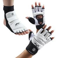 taekwondo sparring zahnrad großhandel-Kühle Taekwondo Handschuhe Sparring Hand Fußschutz Abdeckung Boxhandschuhe Getriebe Fitness Taekwondo Klammer Schutz für Erwachsene Kinder