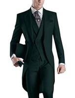 costumes de mariage mens noir blanc achat en gros de-2019 6 Couleurs Designs Hommes Costume Blanc Blazer Noir Pantalon Sur Mesure Hommes Costumes De Mariage Marié Tuxedo Veste Pantalon Gilet