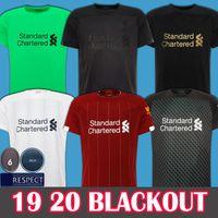 nuevos kits de fútbol para niños al por mayor-2019 2020 Soccer Jersey Liverpool Camiseta de fútbol New Mohamed Salah Blackout 6 trophy 2019 LFC MANE Tops VIRGIL camiseta de fútbol FIRMINO Kits ALISSON Black out men + kids