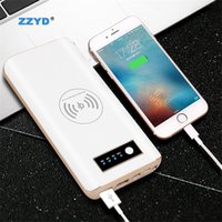 Wholesale wireless power bank for iphone online – ZZYD Portable Qi Wireless Charge powerbank mah charger power bank for iphone mobile phone External battery