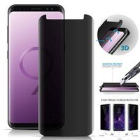 Wholesale glossy screen guard for sale - Group buy 3D Curved Tempered Glass For Samsung Galaxy S9 S8 Plus Note Protect Privacy Anti Spy Screen Protector Film Screen Guard