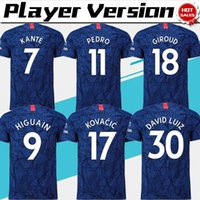 Wholesale uniform for sale - Group buy 2019 Player Version HAZARD home Soccer Jersey KANTE HIGUAIN blue Soccer shirts Men Football uniforms Short Sleeve Customized