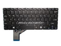 teclados sem moldura venda por atacado-Teclado do laptop para iOTA 360 11.6 Inglês EUA preto sem bateria quadro novo