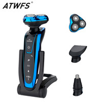 Wholesale shaver razor shaving resale online - ATWFS Men Washable Rechargeable Electric IN Shaver Electric Shaving Beard Machine Razor Rechargeable