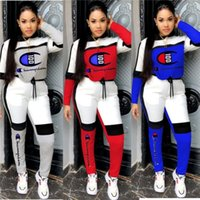 sıcak spor giyim toptan satış-Kadın Eşofman Takımı Kıyafetler Uzun Kollu Hoodie Tozluklar Koşu Spor Güz İki Adet Spor Seksi Çok beğenilen Kadınlar Giyim 786 Suits