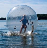 zorb insan hamster topu toptan satış-Ücretsiz Kargo Dia 2 m Şişme Su Topu, İnsan Hamster Top, Su Yürüme Topu, Satışa Zorb Topu