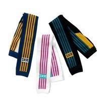 meias pretas para crianças venda por atacado-2019 Primavera nova Meninos tarja leggings crianças carta impressa collants meninas esportes calça casual crianças menino roupas de fundo branco marinha preto F379