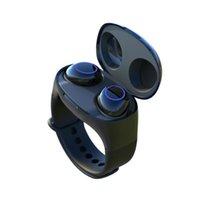 sport armband armbanduhr großhandel-HM50 Wrist TWS Drahtlose Ohrhörer Smart Sportuhr-Armband Bluetooth 5.0 Smartband-Kopfhörer Stereo-In-Ear-Freisprech-Headset