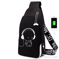 Wholesale travel bag for teenager resale online - Backpack multifunction USB charging for teenagers boys Student Girls School Bags travel Luminous Bag Laptop Pack