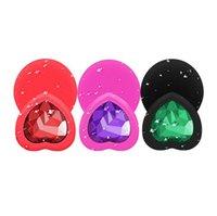 meio plugue anal venda por atacado-Tatyking grande, médio e pequeno pêssego Coração plugue fêmea Lateral Sex Toys produto Adulto G-spot Plug Anal CR0440