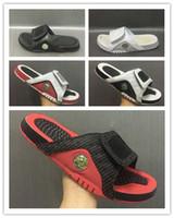 hydro slipper al por mayor-Venta al por mayor 13 zapatillas 13s Azul negro blanco rojo sandalias Hydro Slides zapatillas de baloncesto zapatillas de deporte casuales tamaño 7-13 con caja