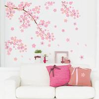 abziehbilder bäume zweige großhandel-Abnehmbare Pflaumenblüte Vogel Baum Zweig Wandkunst Aufkleber Zitat Aufkleber Schönes Zuhause Schlafzimmer Wohnzimmer Dekoration